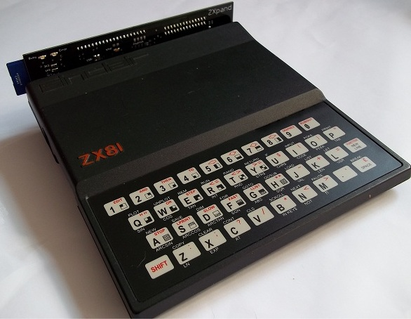 The ZXpand interface for the Sinclair ZX81 Home Computer