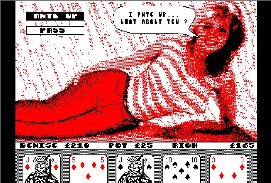 Strip poker the bottle game